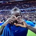 Mamadou Sakho celebrates for France
