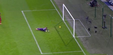 Mignolet made a poor effort of saving Negredo's tame shot