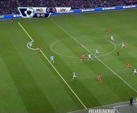 Liverpool's first goal was ruled offside