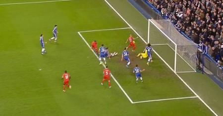 Martin Skrtel scores against Chelsea