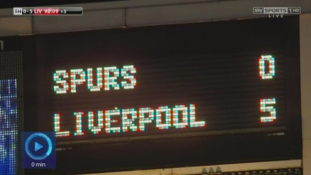 liverpool spurs results