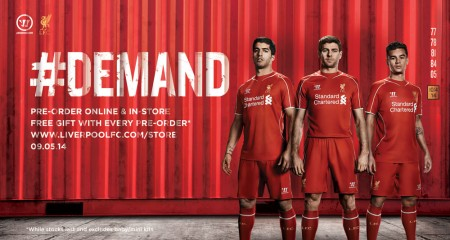 Pre Order your new LFC Home kit for 2014-5