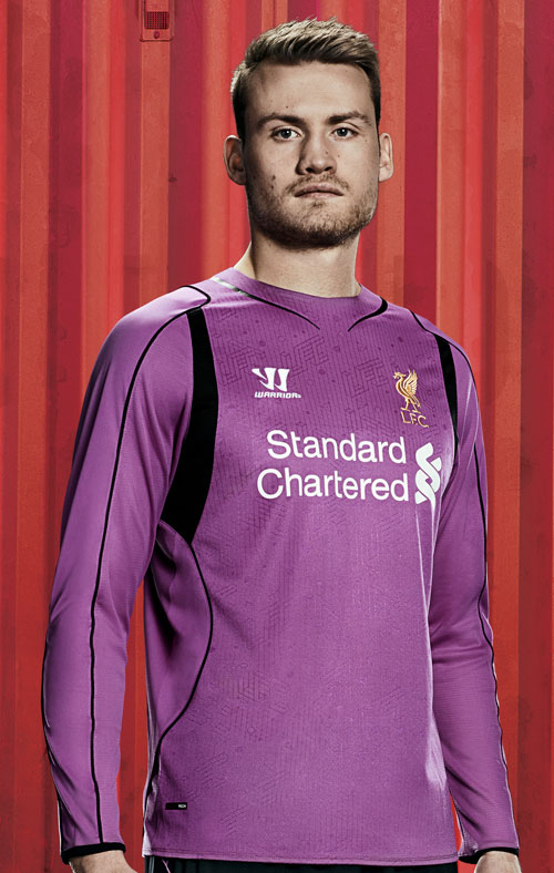 Simon Mignolet in the new LFC home kit 2014-15