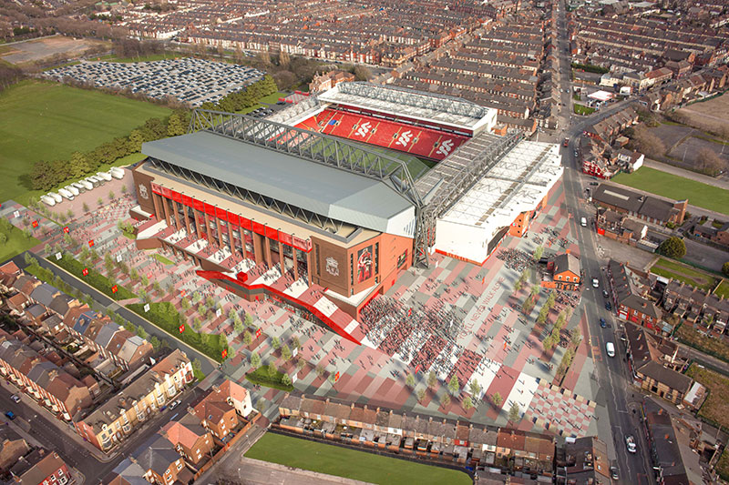 New Main Stand at Anfield - 2014 redevelopment plans (Aerial View)