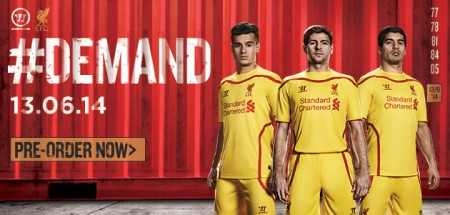 New LFC Away Shirts 2014/15