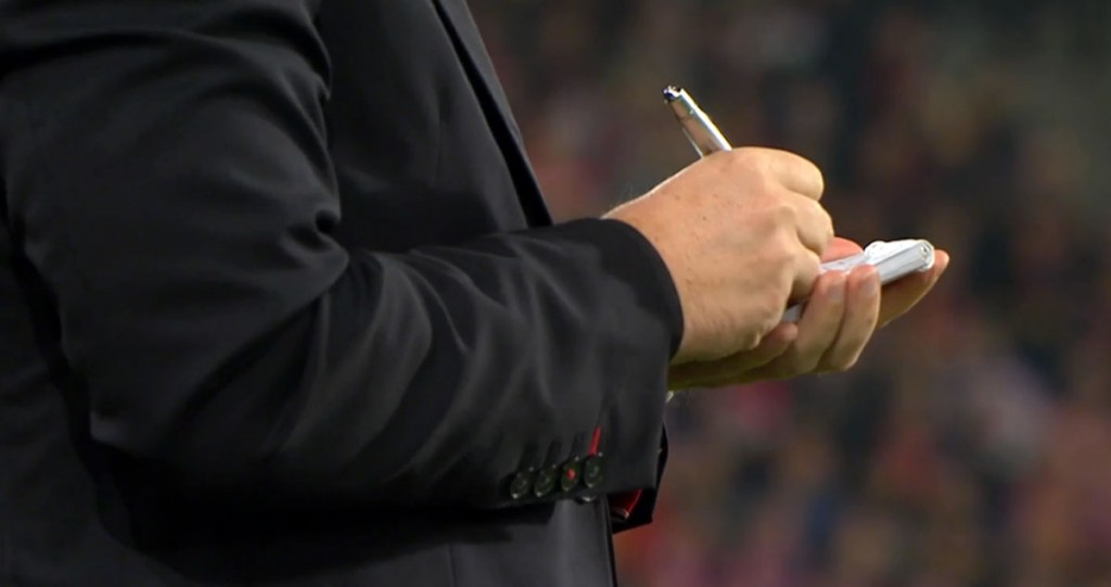 Brendan Rodgers - taking notes