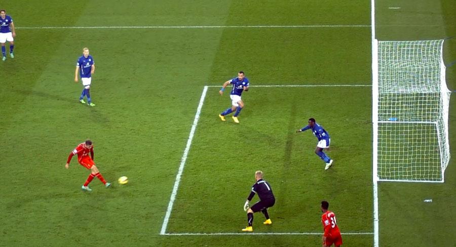 Jordan Henderson scores Liverpool's third