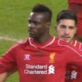 Mario Balotelli scores a penalty against Besiktas
