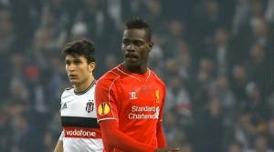 Mario Balotelli in action against Besiktas