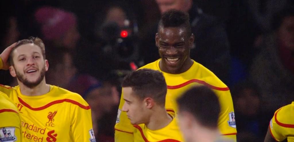 Mario Balotelli and Adam Lallana celebrate the reds winner