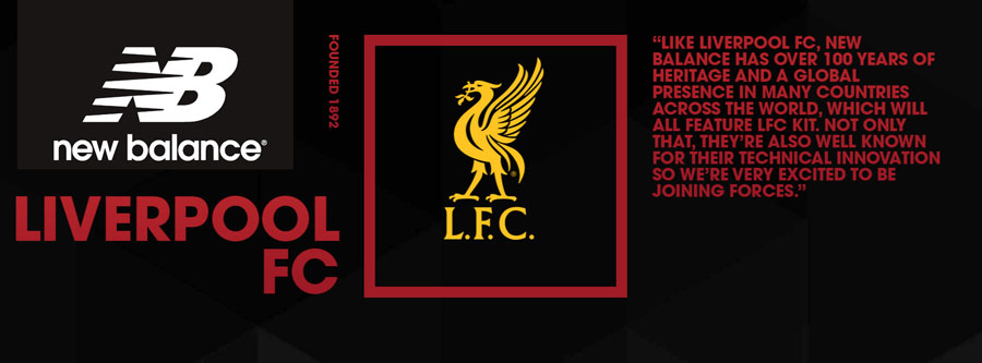 New Balance to become LFC kit manufacturer