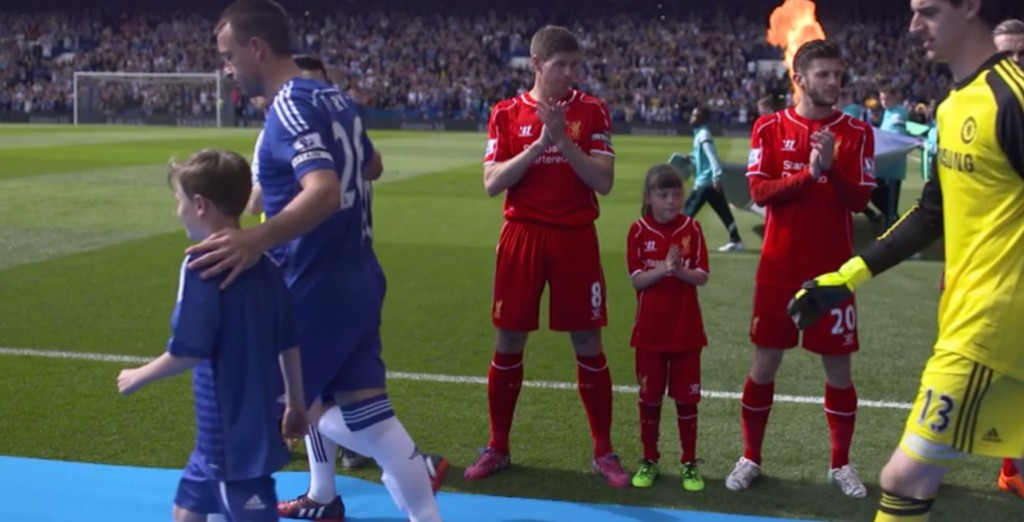 Guard of Honour from Liverpool for Chelsea