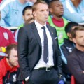 Brendan Rodgers watches on as LFC play Aston Villa
