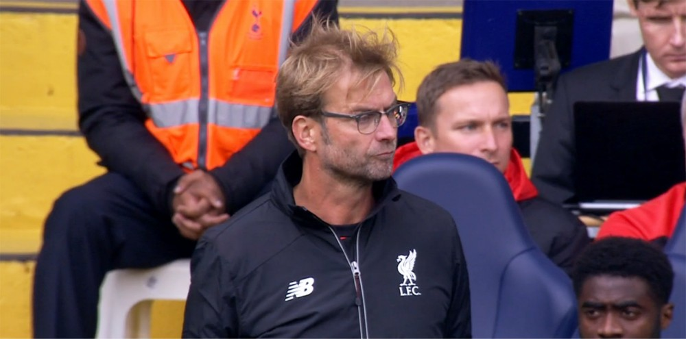 Jurgen Klopp takes charge of his first LFC game