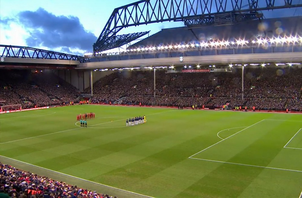 Applause for former Liverpool player Gerry Byrne at Anfield