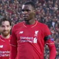 Christian Benteke celebrates the winner against Bordeaux