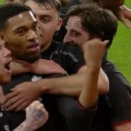 LFC players celebrate the reds 5th against Southampton