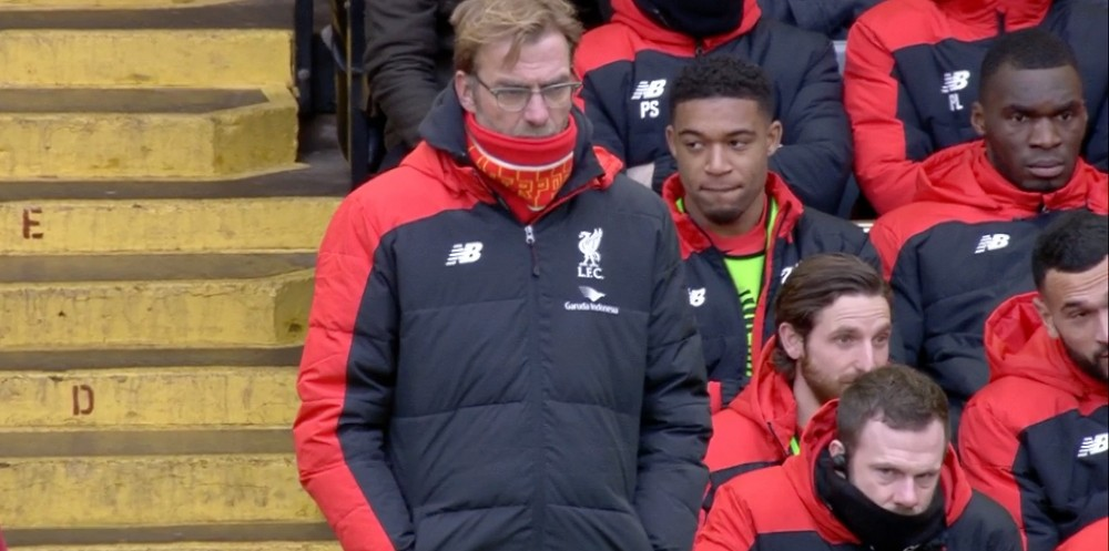 Klopp watches his first LFC - Man United game