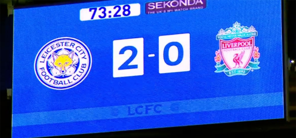 leicester 2 0 liverpool average reds beaten by team with