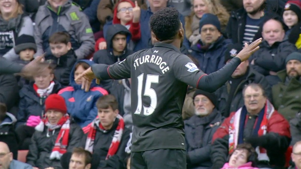 Daniel Sturridge celebrates against Southampton