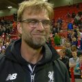 Klopp at the end of the season at Anfield