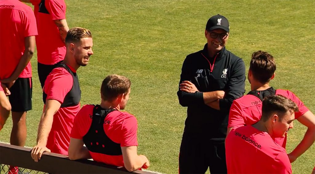 Jurgen Klopp training in the USA