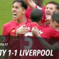 Man City 1-1 Liverpool, Premier League