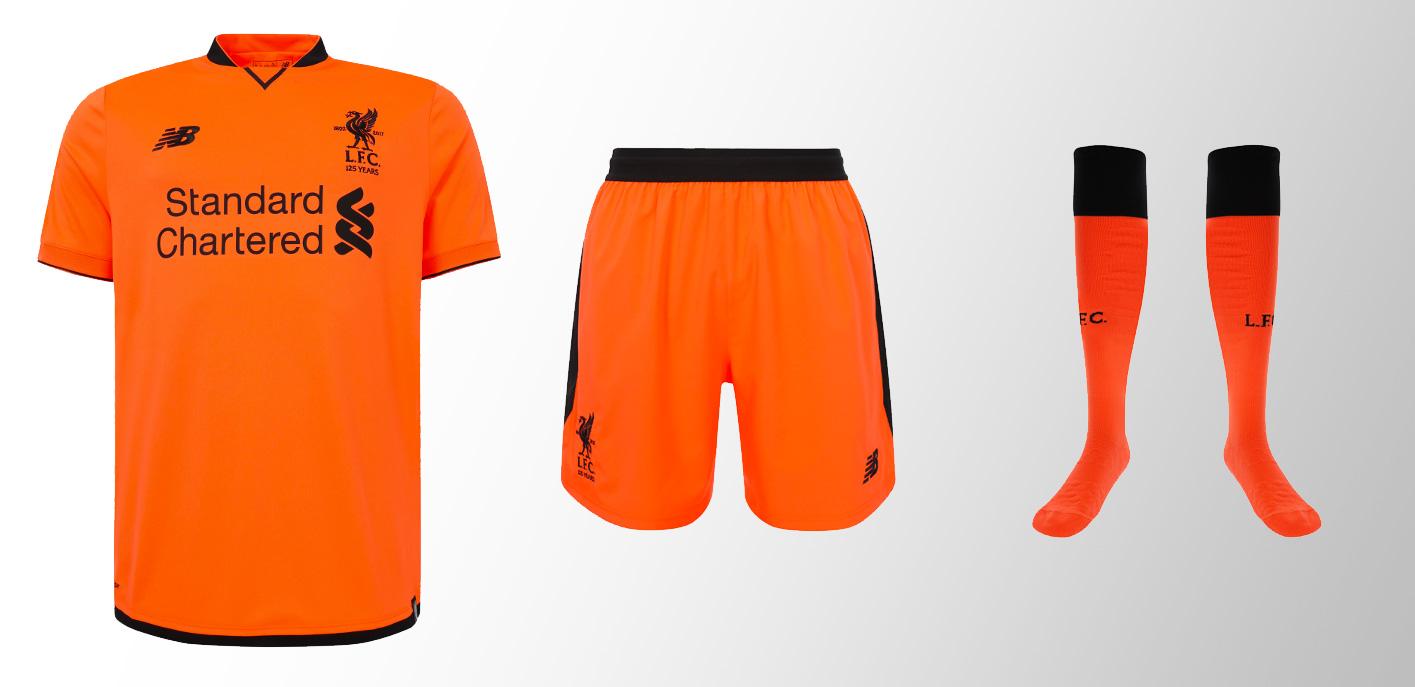 Liverpool Players Third Kit Range 2017-18