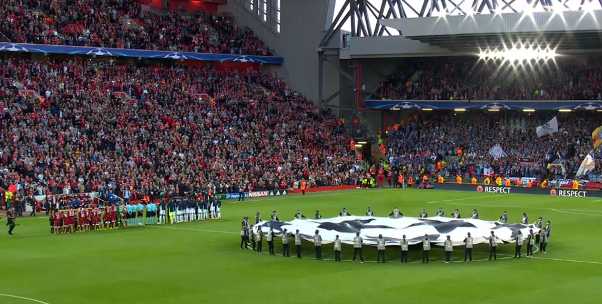 Champions League games back at Anfield