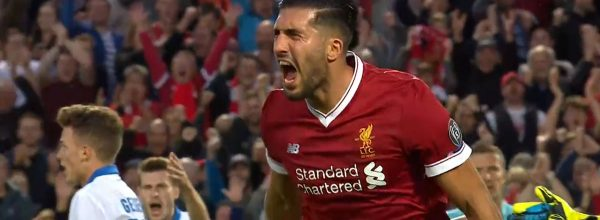 Emre Can scores twice in the Champions League at Anfield v Hoffenheim