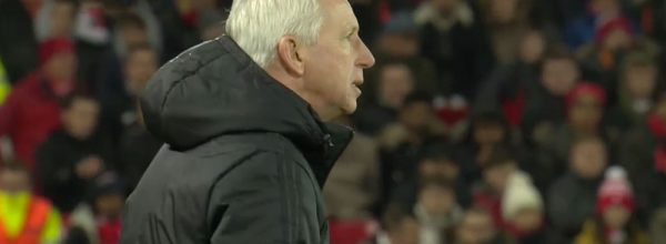 Alan Pardew at Anfield
