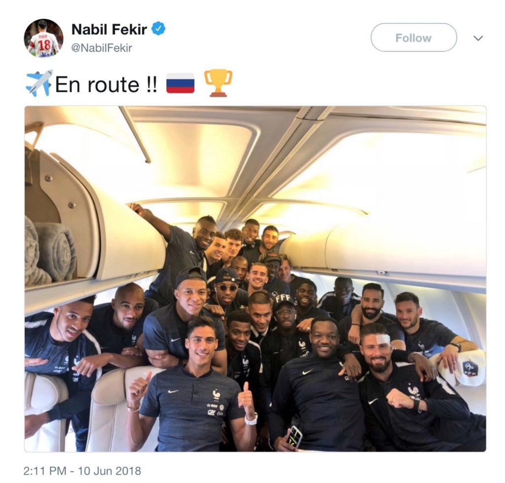 Fekir heads to Moscow with France