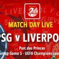 LIVE PSG v Liverpool