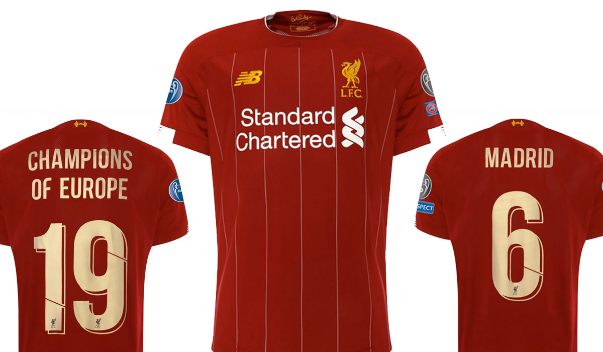 Liverpool S Champions League 6 Time Winners Home Shirts Available To Buy Anfield Online