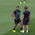 Oxlade-Chamberlain training at Murrayfield