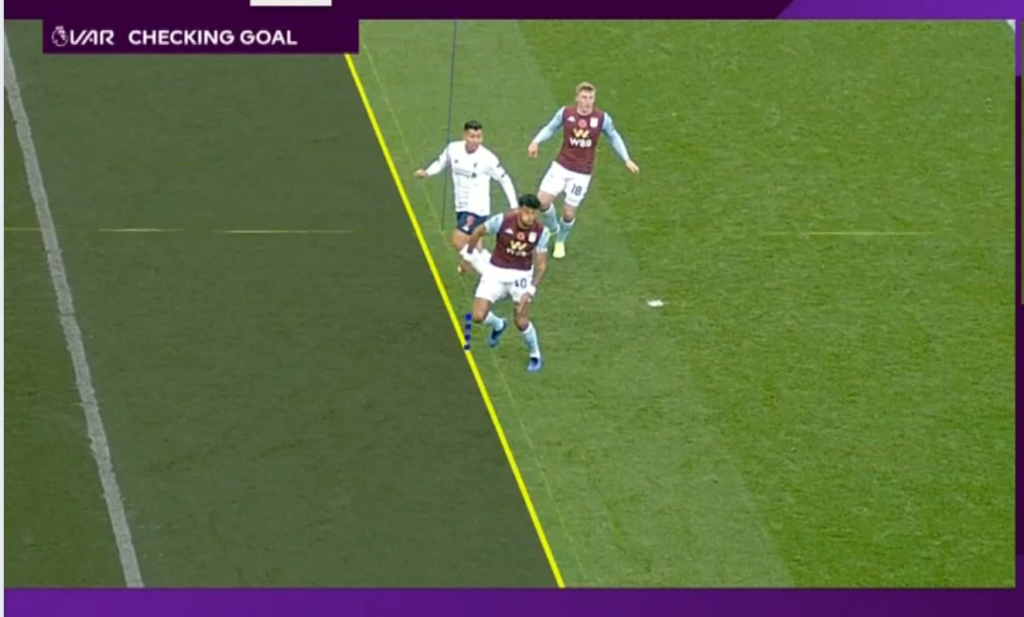 Firmino was ruled offside by Martin Atkinson after watching on VAR