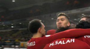 Firmino goal v Wolves