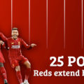 LFC take a commanding 25 point Premier League lead