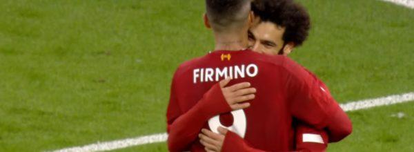 Salah and Firmino celebrate