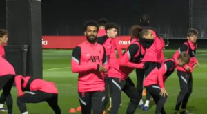 Mo Salah training