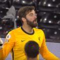 Alisson saves against Fulham