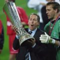 Gerard Houllier with UEFA Cup