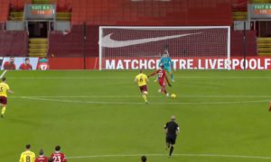 Divock Origi hits the bar v Burnley