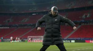Klopp celebrates the opening goal against RB Leipzig