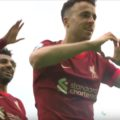 Diogo Jota scores the reds first competitive goal of the 2021/22 season