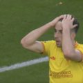 Diogo Jota wears Liverpool's new third kit at Brentford